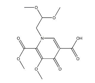 1-(2,2-diMethoxyethyl)-5-Methoxy-6-(Methoxycarbonyl)-4-oxo-1,4-dihydropyridine-3-carboxylic acid