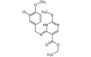 4-[[(3-Chloro-4-methoxyphenyl)methyl]amino]-2-(methylthio)-5-pyrimidinecarboxylic acid ethyl ester